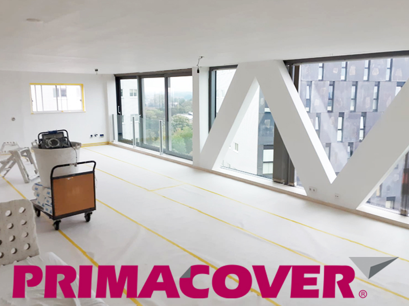 PrimaCover Combi vergelijking kartonnen stucloper lichtgewicht rol afdekmateriaal niet-zelfklevend